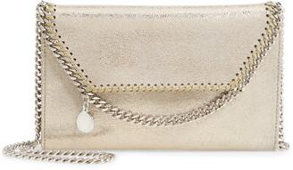 Stella McCartney Mini Falabella Metallic Faux Leather Crossbody Bag