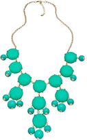 Blu Bijoux Gold and Turquoise Bubble Bib Necklace