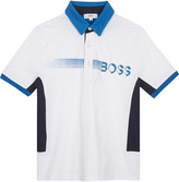 BOSS Smudge logo cotton polo shirt 4-16 years
