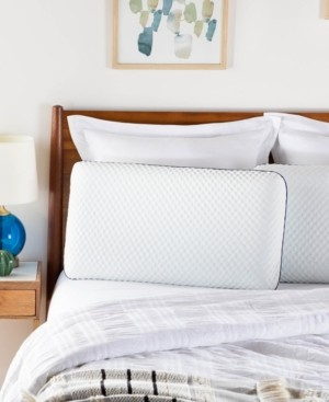Linenspa Signature Collection AlwaysCool Gel Memory Foam Pillow, Standard