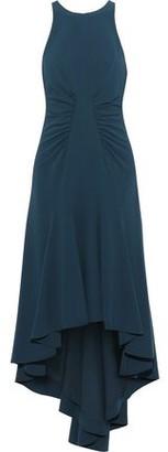Halston Asymmetric Stretch-crepe Midi Dress