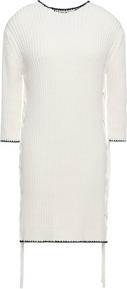 By Malene Birger Lace-up Ribbed Cotton Sweater