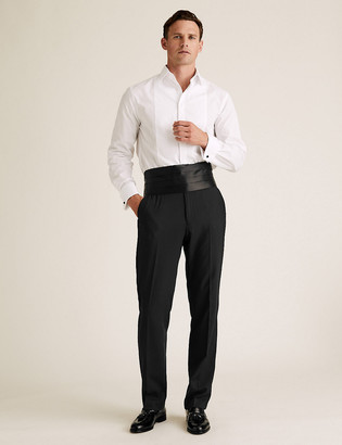 Marks and Spencer Evening Black Regular Fit Trousers