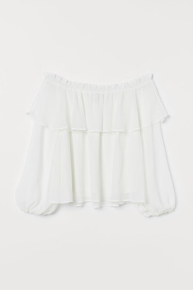 H&M Off-the-shoulder Blouse - White