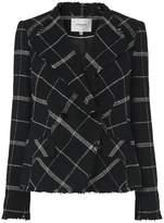 LK Bennett Zuri Black Check Wool Mix Jacket