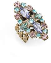 Sorrelli Edelweiss Crystal Cocktail Ring