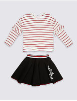 Marks and Spencer 2 Piece Top & Embroidered Skirt Outfit (3-14 Years)