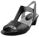 David Tate Action W Open-toe Leather Slingback Heel.