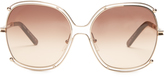 Chloé Modified oversized square-frame sunglasses