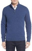 Men's John W. Nordstrom Quarter Zip Cashmere Sweater