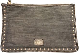 Valentino Rockstud Navy Denim - Jeans Clutch bags