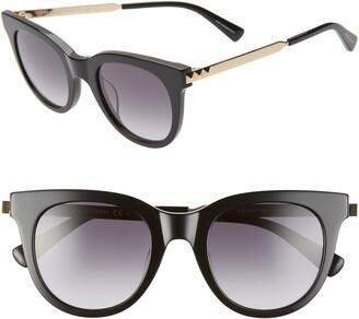 Rebecca Minkoff Stevie 49mm Round Sunglasses