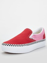 Vans UA Classic Slip On Platform - Red/Pink