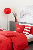Lacoste Brushed Twill Duvet Set - Rococco Red