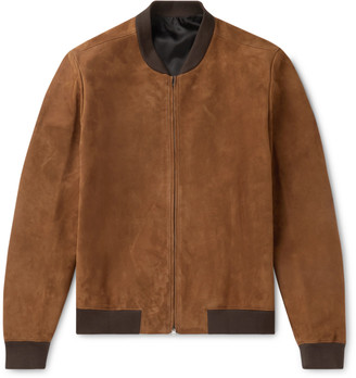 The Row Suede Bomber Jacket - Men - Brown