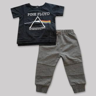 Perryscope Baby Boys' 2pk Pink Floyd Top and Bottom Set - Dark Heather