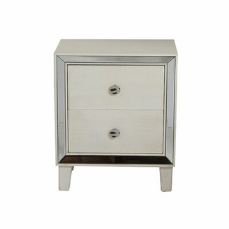 House of Hampton Tommen 2 Drawer Nightstand Color: Antique White