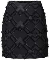 Oliver Bonas Moonlight Fringed Jacquard Mini Skirt