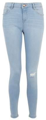 Dorothy Perkins Womens Blue 'Darcy' Skinny Ankle Grazer Jeans, Blue