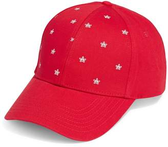 Canadian Olympic Team Collection Leaf-Print Cotton Baseball Cap