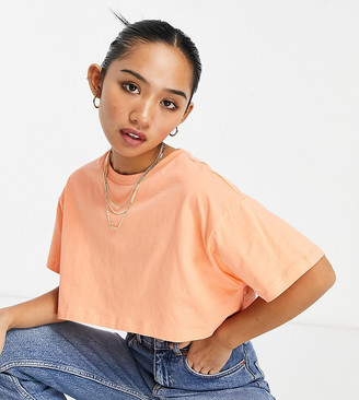 ASOS DESIGN Petite super crop t-shirt in apricot