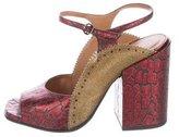 Dries Van Noten Leopard Printed Ankle Strap Sandals