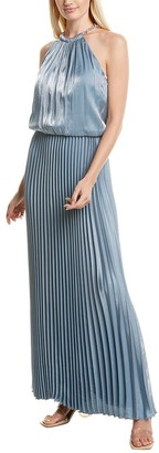 MSK Pleated Gown