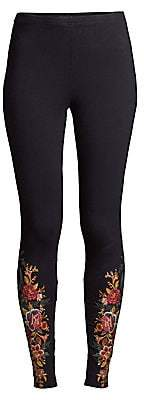 Johnny Was Women's Zaret Floral Embroidered Leggings