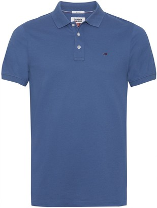 Tommy Jeans Tommy Cotton Pique Polo Shirt in Slim Fit