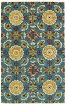 Leon Hand-tufted de Turquiose Rug (8' x 10')
