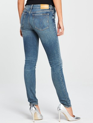 Calvin Klein Jeans 010 Mid Rise Skinny Jeans - London Mid Blue