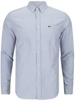 Lacoste Long Sleeve Oxford Shirt Boreal Blue