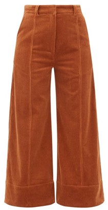 Dodo Bar Or Ivy Cotton-blend Corduroy Wide-leg Trousers - Womens - Brown