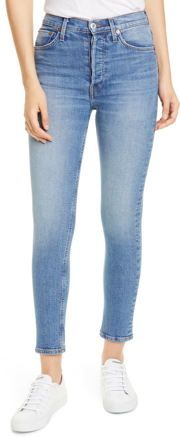RE/DONE High Waist Ankle Jeans