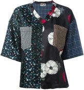 Hache multi-print T-shirt - women - Cotton/Linen/Flax/Acetate/metal - 40