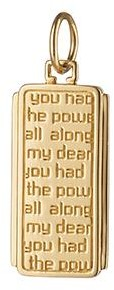 "Monica Rich Kosann ""Dorothy"" Medallion Charm with Quote"