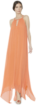 Alice + Olivia Jaelyn Braid Neck Halter Maxi