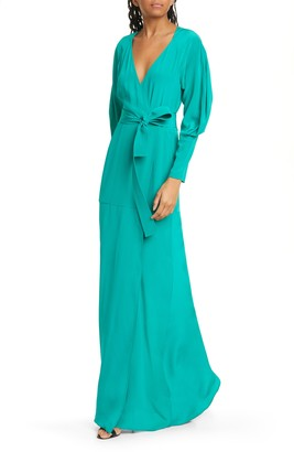 A.L.C. Nakia Silk Wrap Maxi Dress