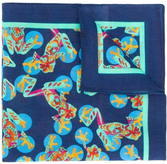 Paul Smith Frog Print Square Scarf