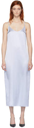 La Perla Blue Silk Slip Dress