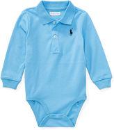 Ralph Lauren Boy Cotton Jersey Polo Bodysuit