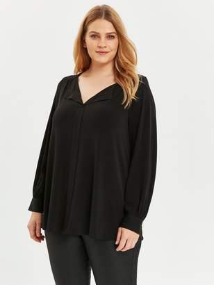 Evans V Neck Jersey Shirt - Black