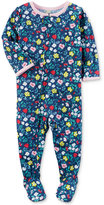 Carter's 1-Pc. Floral-Print Footed Pajamas, Baby Girls (0-24 months)