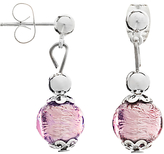 Murano Martick Glass Drop Earrings