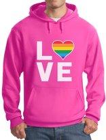 TeeStars - Love - Gay & Lesbian Pride Rainbow Flag Heart Equality Hoodie