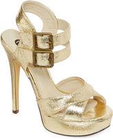 Michael Antonio Tira Double Ankle-Strap Metallic Platform Sandals