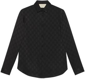 Gucci GG crepe de Chine silk shirt