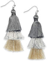 INC International Concepts Ombre Tassel Drop Earrings, Created for Macy's