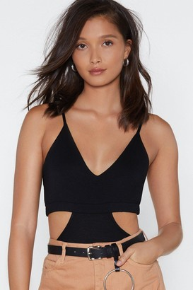 Nasty Gal Womens Every Piece of Me Cut-Out Bodysuit - Black - 8