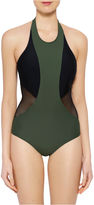 Xersion High Neck One Piece Swimsuit